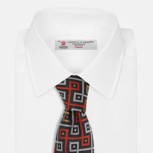 Geo Squares Silk Tie - The World Is Not Enough Edition - By Turnbull & Asser