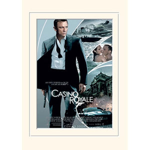 30 x 40cm MOUNTED PRINT - CASINO ROYALE l Official James Bond 007 Store