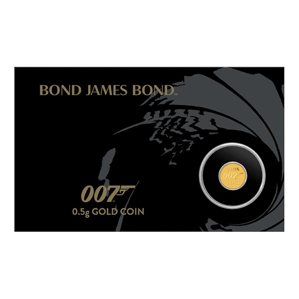 James Bond 0.5g Gold Coin In Presentation Card - by The Perth Mint - 007STORE