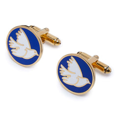 THE VILLAINS - DOVE CUFFLINKS - FOR YOUR EYES ONLY