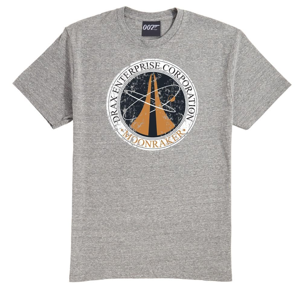 Drax Enterprise Corporation Grey Marl T-Shirt - Moonraker Edition - 007STORE
