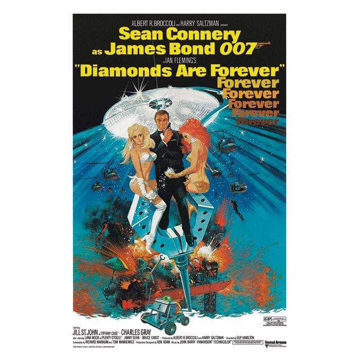 Diamonds Are Forever Claw 30 X 40cm Canvas - 007STORE