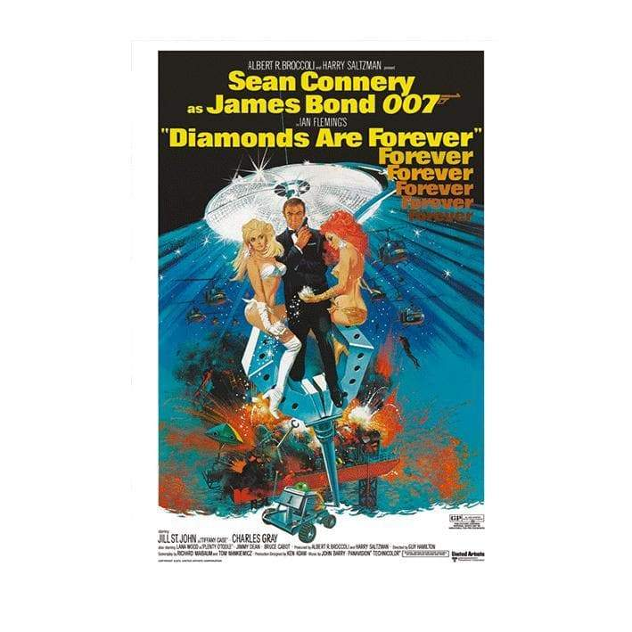 Diamonds Are Forever (Claw) Postcard l Official James Bond 007 Store