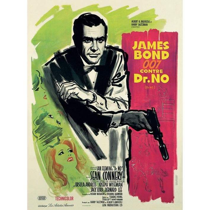 Dr. No (French) 30 X 40cm Canvas l Official James Bond 007 Store