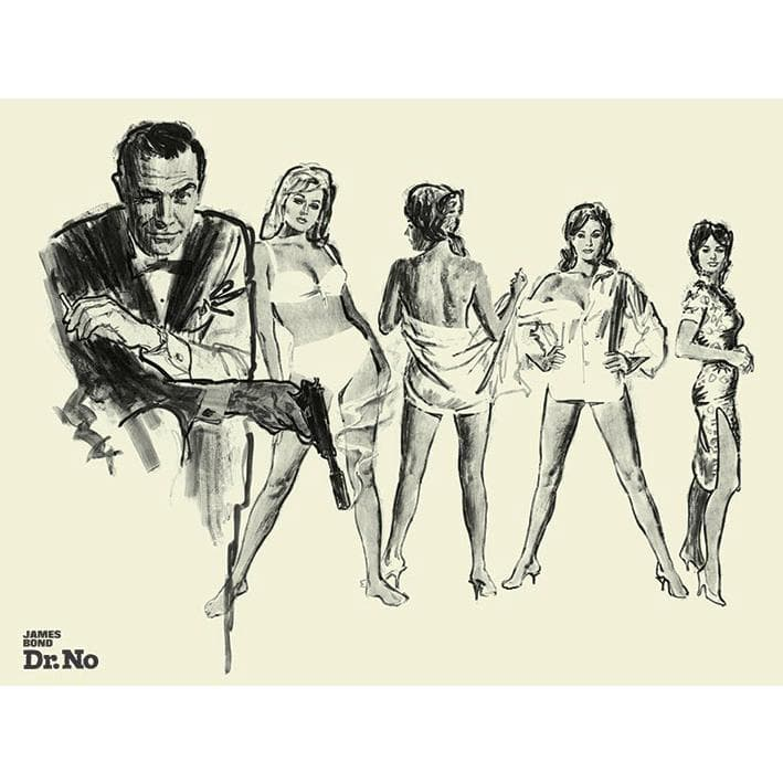 DR. NO LANDSCAPE (SKETCH) 30 X 40CM CANVAS l Official James Bond 007 Store