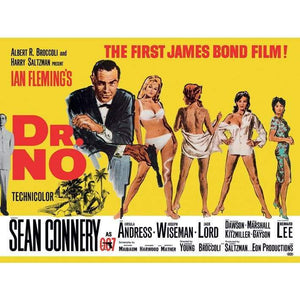 Dr. No Landscape (Yellow) 85 X 120cm Canvas - 007STORE