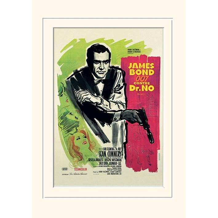 Dr. No (French) 30 x 40cm Mounted Print l Official James Bond 007 Store