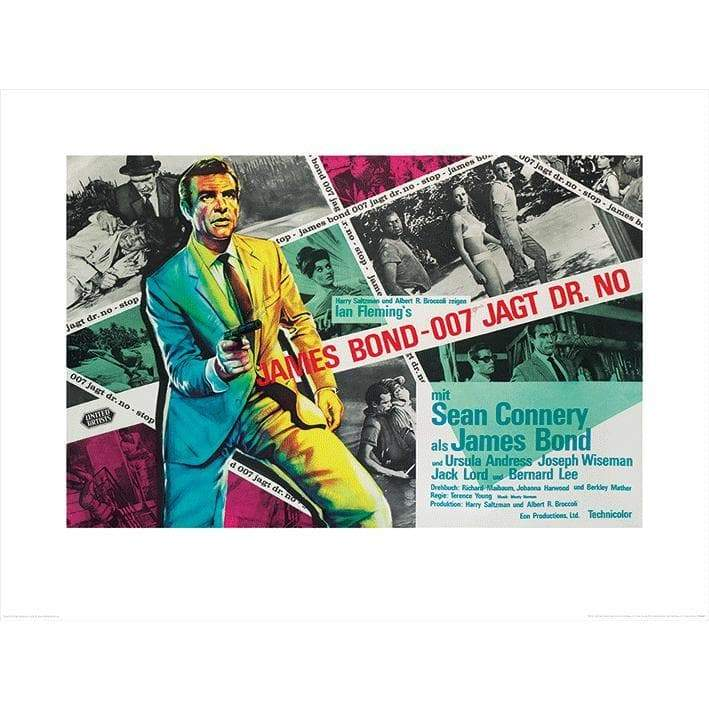 Dr. No Landscape (Montage) 60 X 80cm Art Print l Official James Bond 007 Store