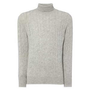 Fumo Grey Cashmere Roll Neck Sweater - Spectre Limited Edition By N.Peal - 007STORE