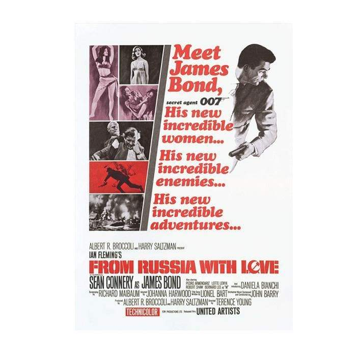 From Russia With Love Postcard - 007STORE