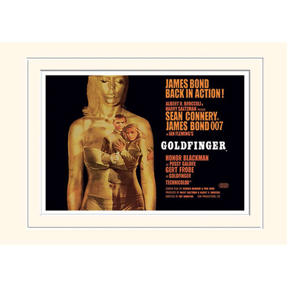 Goldfinger (Projection) 30 X 40cm Mounted Print - 007STORE