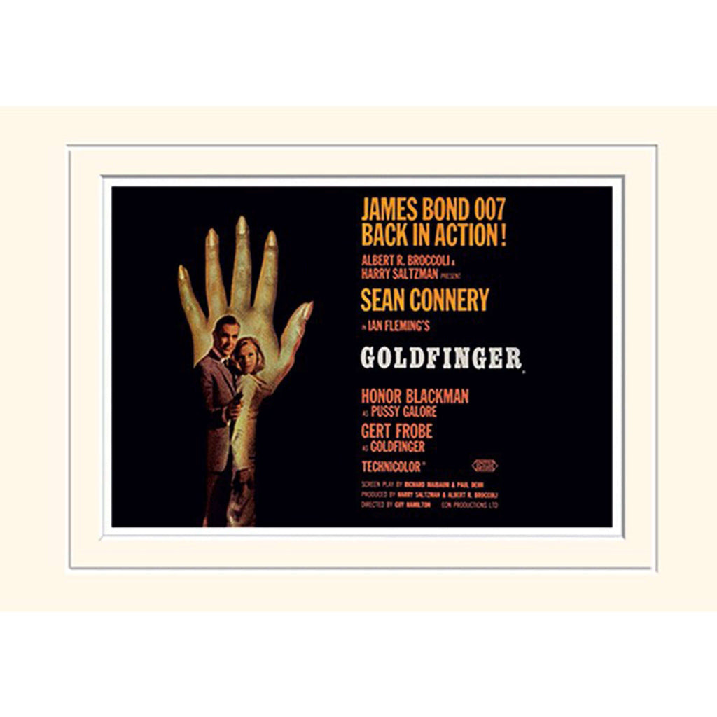 GOLDFINGER (HAND) 30 x 40CM MOUNTED PRINT
