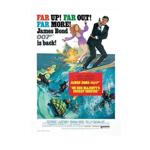 On Her Majesty's Secret Service Postcard - 007STORE