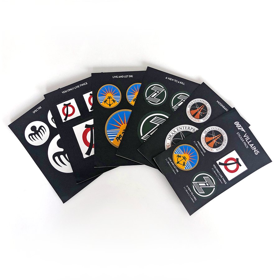 James Bond Villains Gadget Sticker Pack