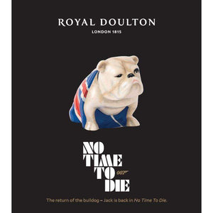 Jack The Bulldog Porcelain Model - No Time To Die Edition - By Royal Doulton