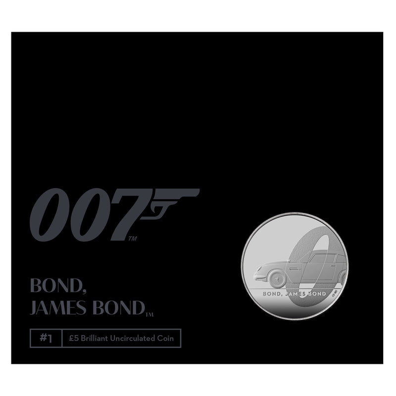 James Bond Coin £5 Crown Brilliant Uncirculated Coin - By The Royal Mint - 007STORE