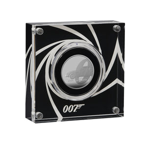 James Bond 0.5oz Silver Proof Coin In Display Case - By Royal Mint - 007STORE