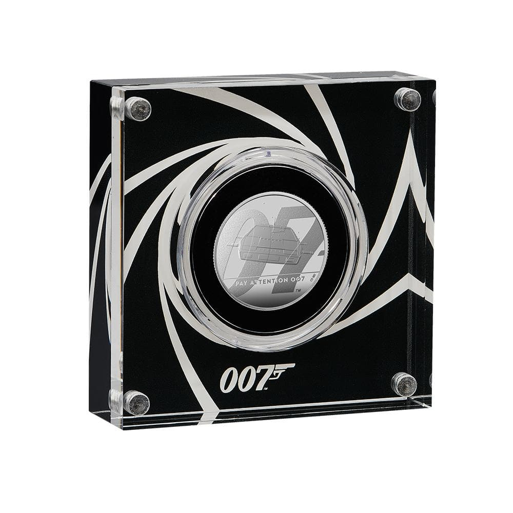 """Pay Attention 007"" James Bond Half-Ounce Silver Proof Coin - By The Royal Mint"