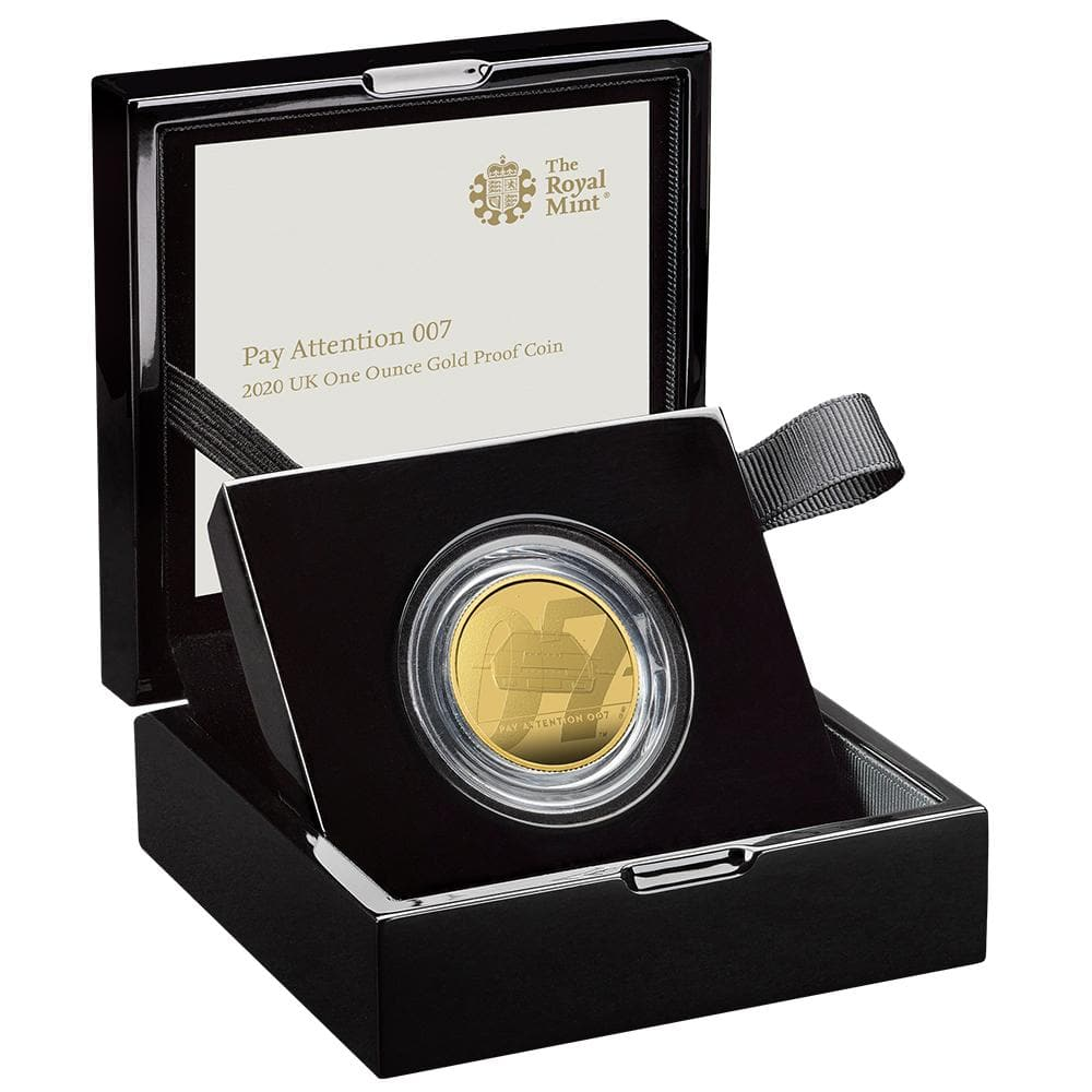 """Pay Attention 007"" James Bond One Ounce Gold Proof Coin - By The Royal Mint"