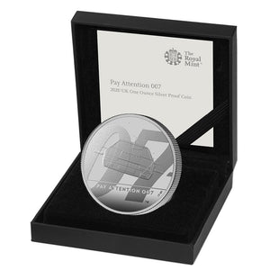 """Pay Attention 007"" James Bond One Ounce Silver Proof Coin - By The Royal Mint"