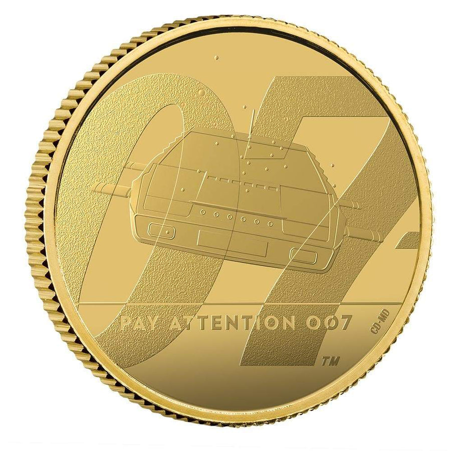 """Pay Attention 007"" James Bond Quarter-Ounce Gold Proof Coin - By The Royal Mint"