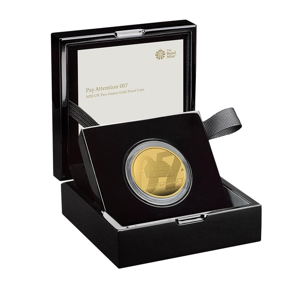 """Pay Attention 007"" James Bond Two Ounce Gold Proof Coin - By The Royal Mint"