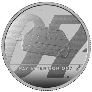 """Pay Attention 007"" James Bond Two Ounce Silver Proof Coin - By The Royal Mint"
