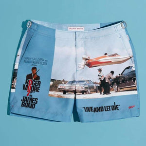 Live And Let Die Graphic Bulldog Swim Shorts - By Orlebar Brown