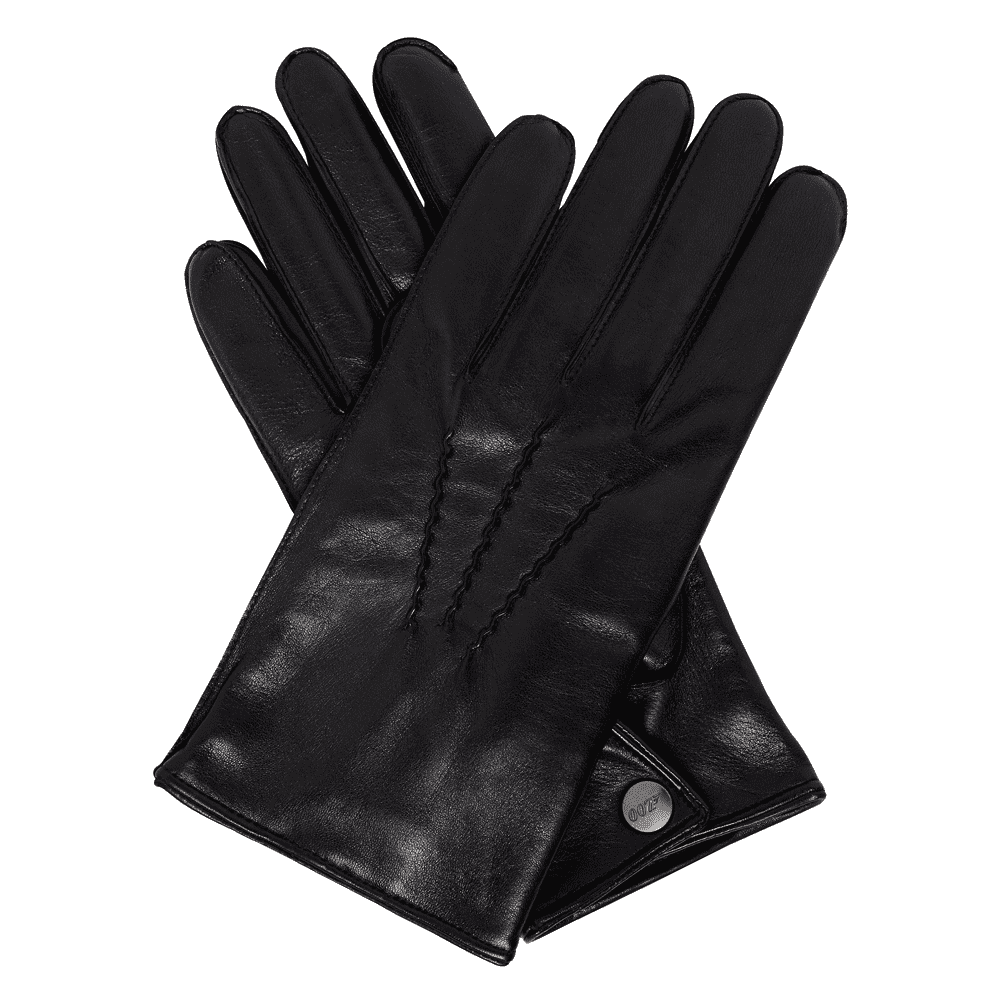 Cashmere-lined Black Leather Gloves l Official James Bond 007 Store