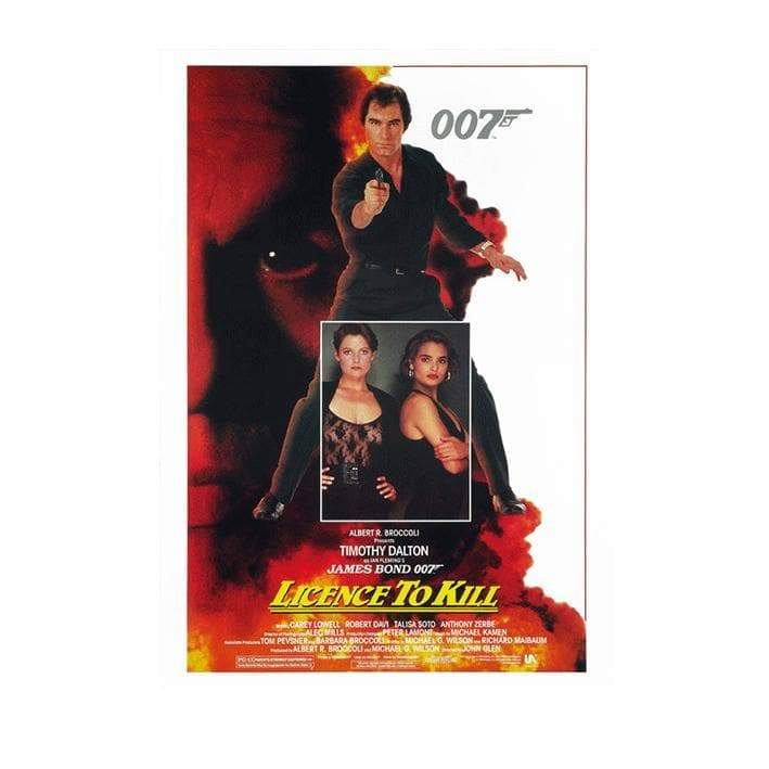 LICENSE TO KILL POSTCARD