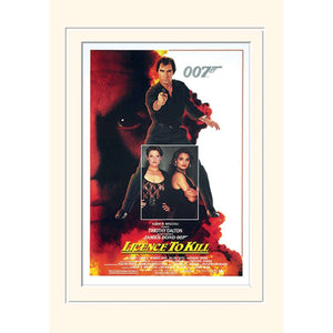 Licence To Kill 30 x 40cm Mounted Print - 007STORE
