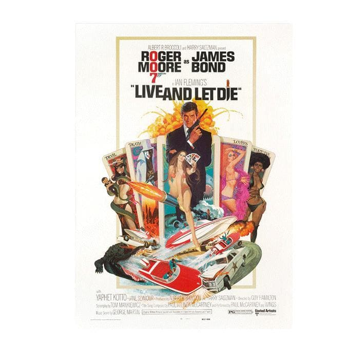 Live And Let Die Postcard - 007STORE