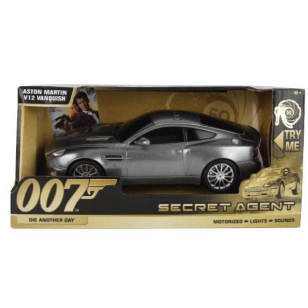 007 Aston Martin V12 Vanquish Light & Sound Car - Die Another Day Secret Agent Edition - By Toy State - 007STORE