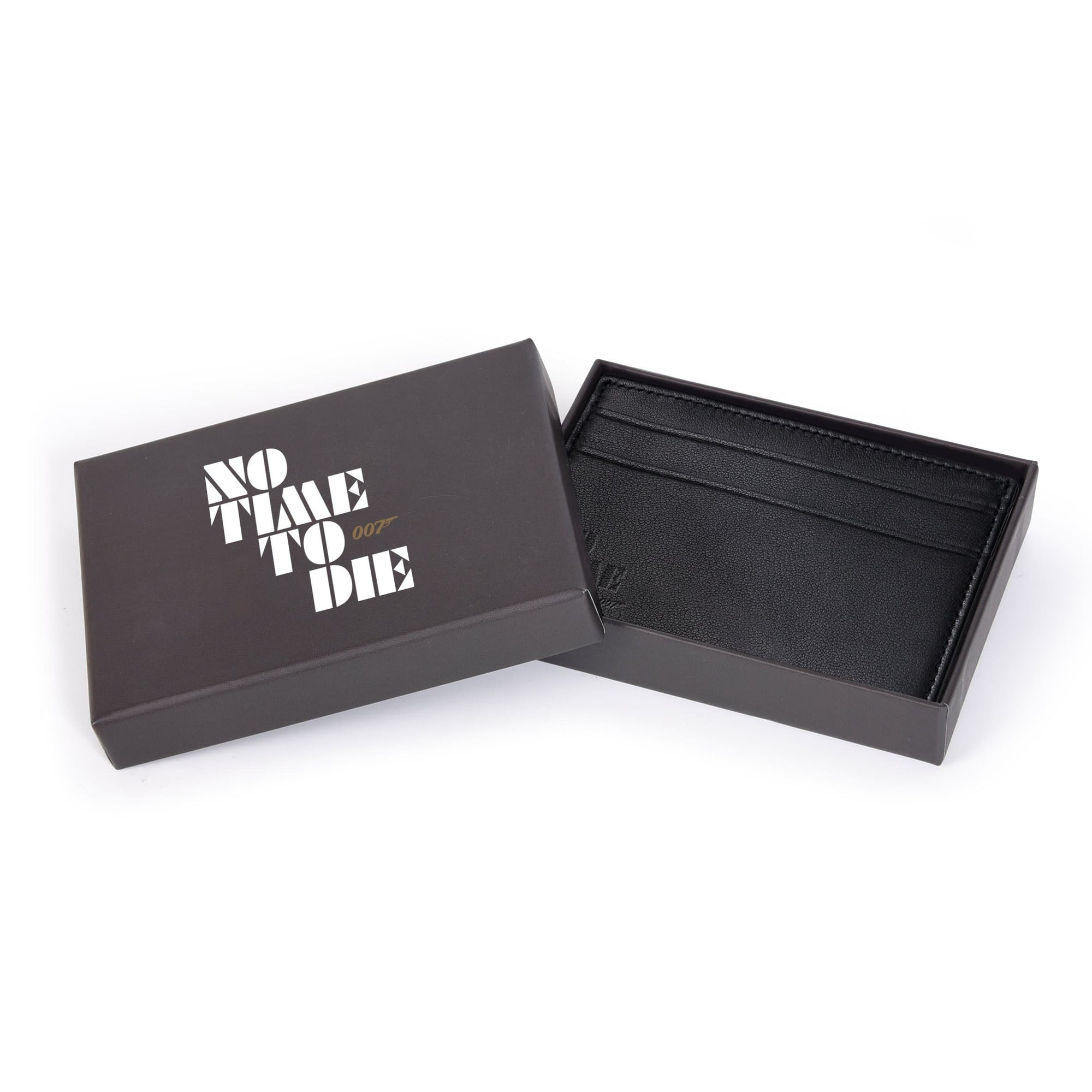Black Leather Card Holder - No Time To Die Edition - 007STORE