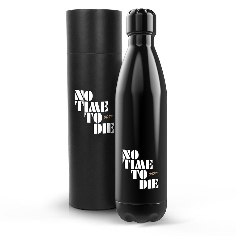 Black Hot & Cold Water Bottle (500ml) - No Time To Die Edition - 007STORE