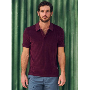 Plum Towelling Polo Shirt - Dr. No Edition - By Orlebar Brown - 007STORE