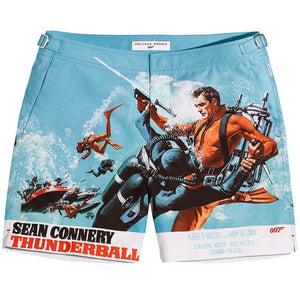 Thunderball Graphic Bulldog Swim Shorts By Orlebar Brown - 007STORE