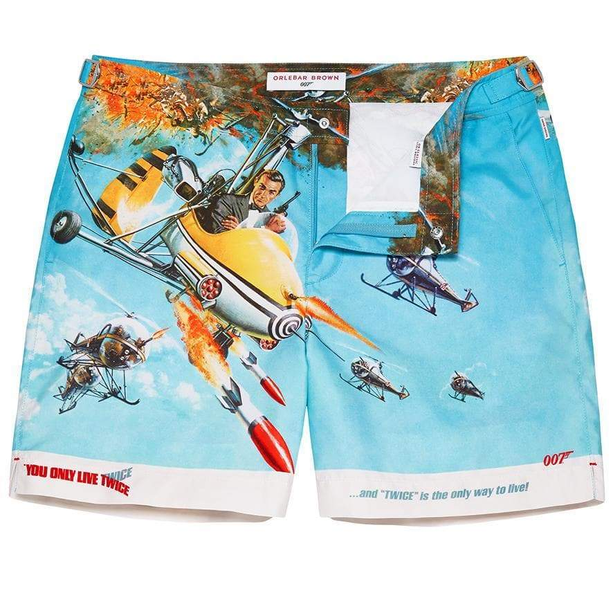 You Only Live Twice Graphic Bulldog Swim Shorts By Orlebar Brown - 007Store