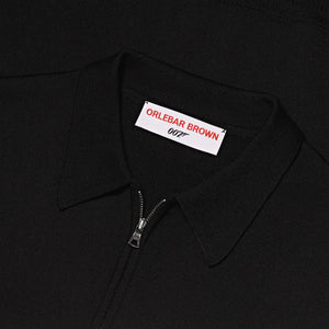 Half-Zip Merino Knit Shirt - Moonraker Edition - By Orlebar Brown - 007STORE