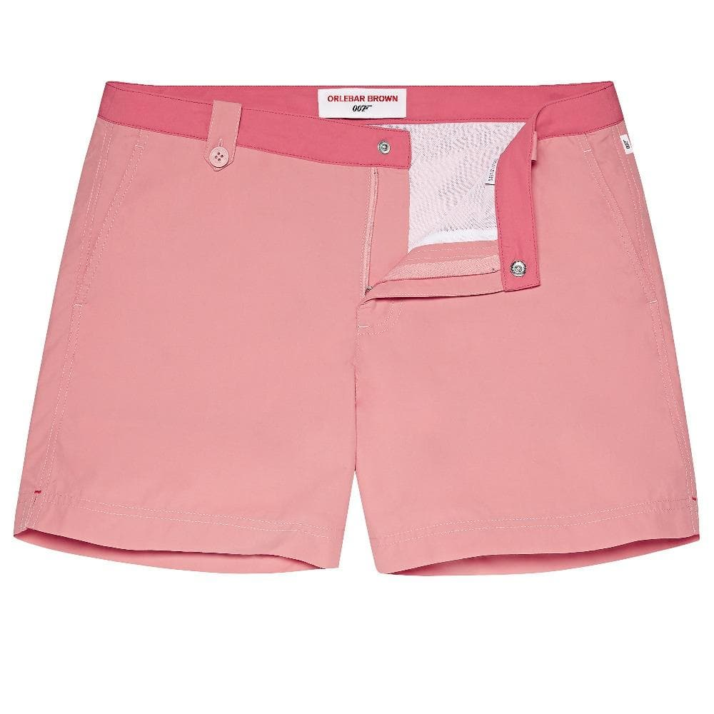 Warm Pink & Watermelon Setter Swim Shorts - Thunderball Edition - By Orlebar Brown - 007STORE