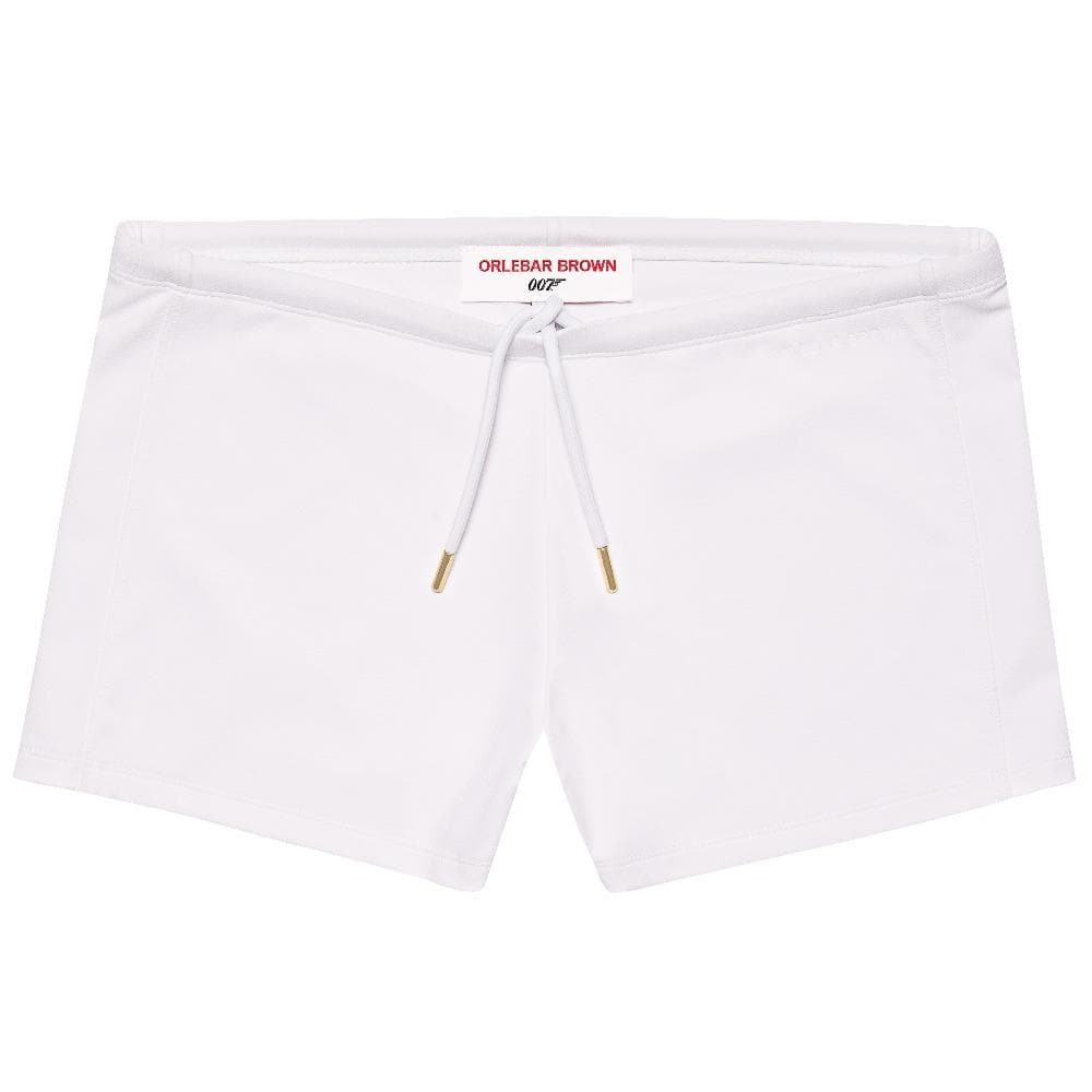 White Bassett Swim Trunks - Thunderball Edition - By Orlebar Brown - 007STORE