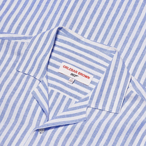 Stripe Cotton Short Sleeve Shirt - Thunderball Edition - By Orlebar Brown - 007STORE