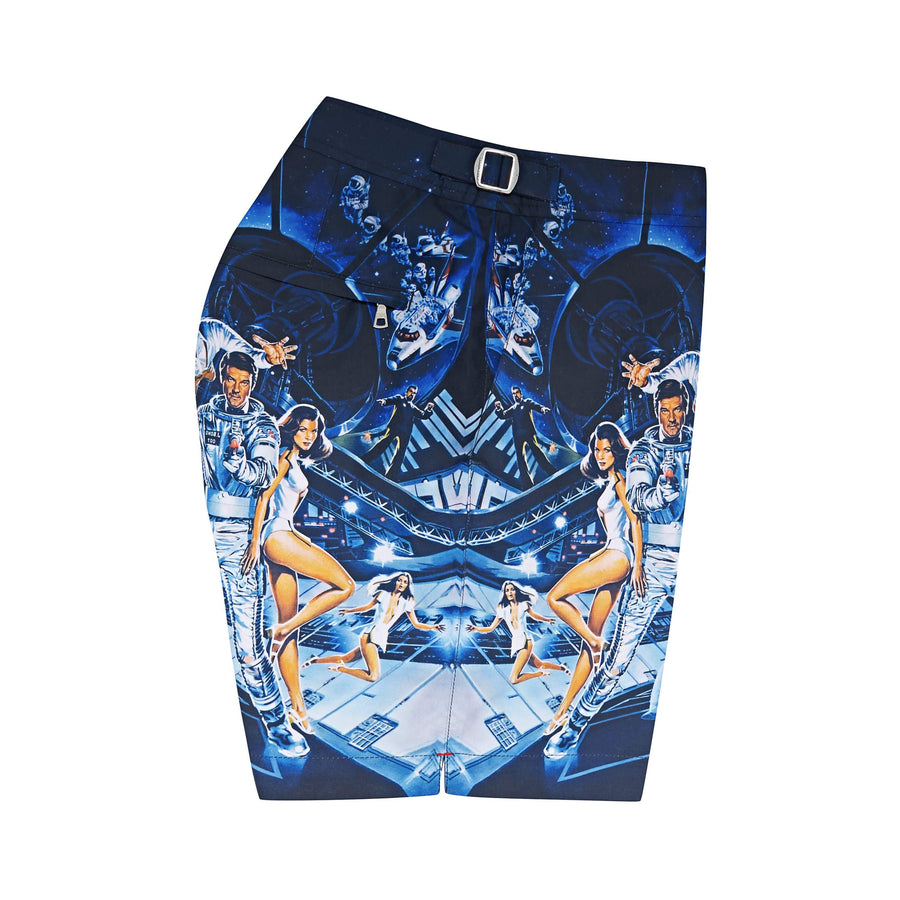 Moonraker Graphic Bulldog Swim Shorts By Orlebar Brown - 007Store