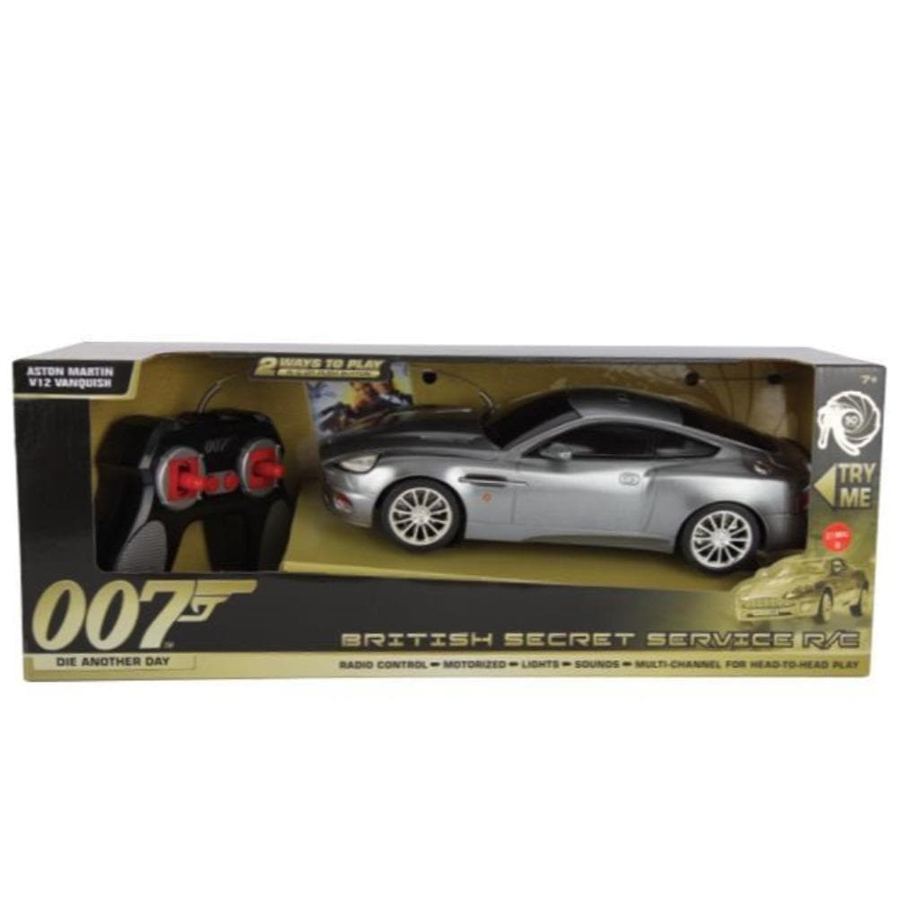 007 Aston Martin V12 Vanquish 1:18 Remote Control Car - Die Another Day Edition - By Toy State - 007STORE