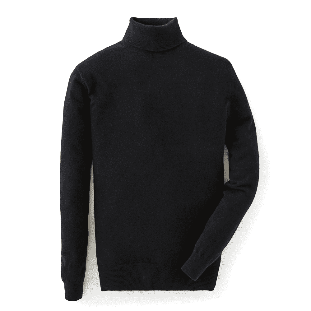 Black Cashmere Roll Neck Sweater l Official James Bond 007 Store
