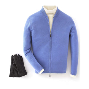 Blue Cashmere Bomber Jacket - On Her Majesty's Secret Service Limited Edition By N.Peal - 007STORE
