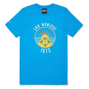 Azure Blue San Monique Island T-Shirt - Live And Let Die Limited Edition l Official James Bond 007 Store