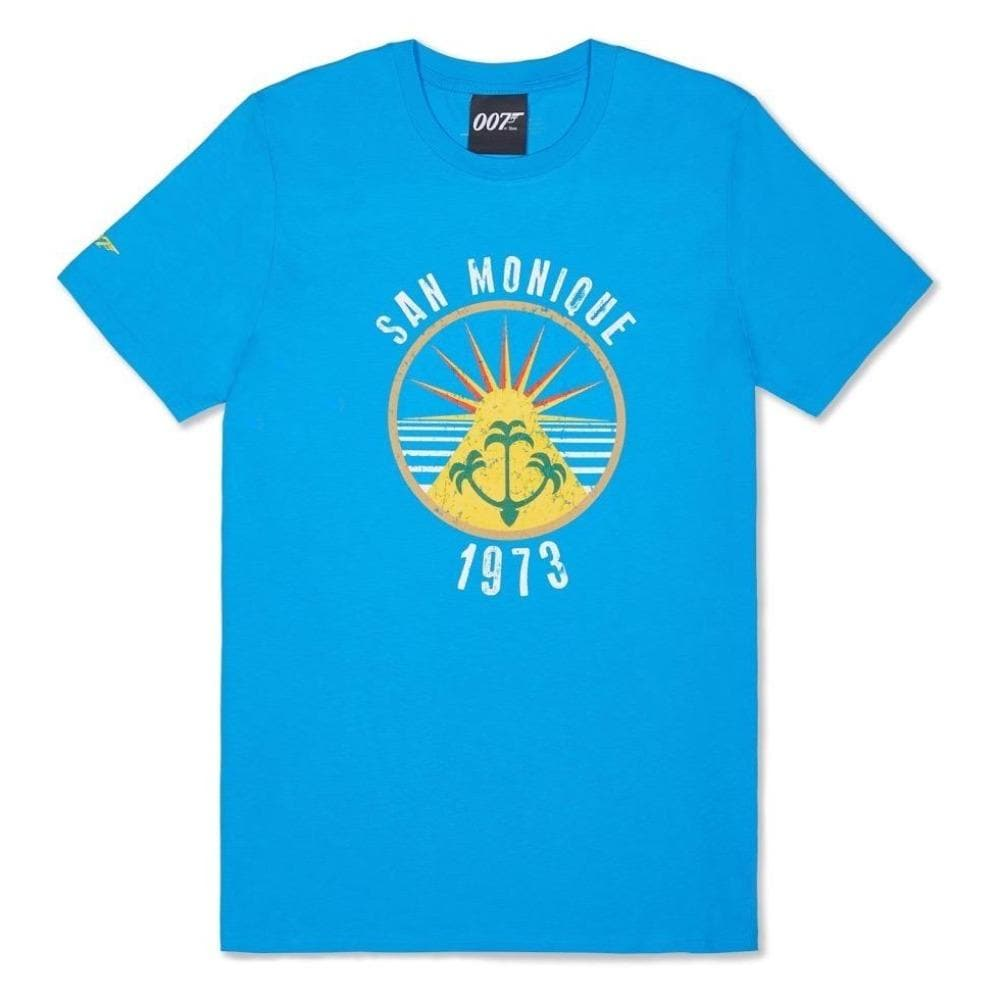 Azure Blue San Monique Island T-Shirt - Live And Let Die Limited Edition - 007STORE