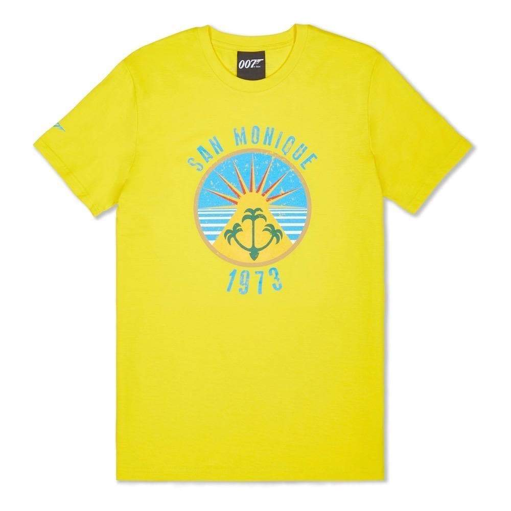 Sunshine Yellow San Monique Island T-Shirt - Live And Let Die Limited Edition - 007STORE