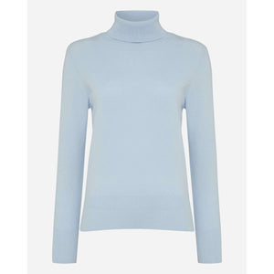 Women's Light Blue Cashmere Roll Neck Sweater - Tatiana Romanova Edition - By N. Peal - 007STORE